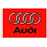 Home King Audi Red Flags Banner 3X5FT 100% Polyester,Canvas Head with Metal Grommet