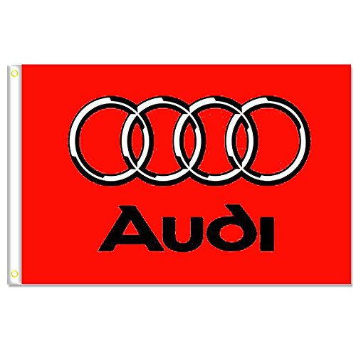 Home King Audi Red Flags Banner 3X5FT 100% Polyester,Canvas Head with Metal Grommet by Home King