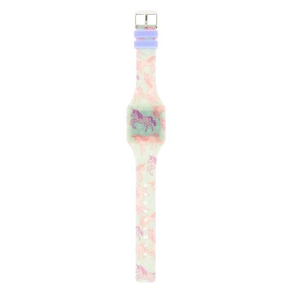 Claire de para niña y mujer unicornio Impresión LED reloj: Amazon.es: Relojes