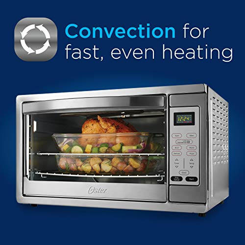Oster Extra Large Digital Countertop Convection Oven, Stainless Steel (TSSTTVDGXL-SHP) - smallkitchenideas.us