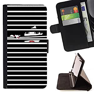 Uñas Negro Dama Blanca- Modelo colorido cuero de la carpeta del tirón del caso cubierta piel Holster Funda protecció Para Apple iPhone 5C