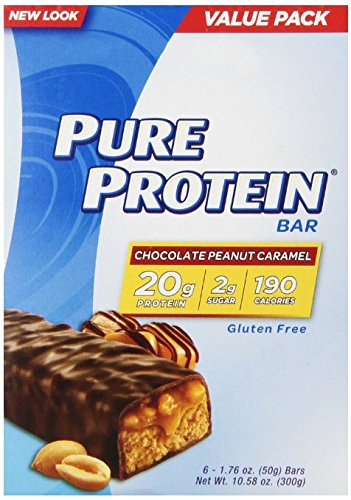 Pure Protein Chocolate Peanut Caramel, 5Pack ( 6 count Each) VD3JHD Pure-FV by Pure Protein