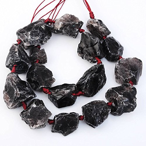 Smoky Quartz Nugget Beads - 5