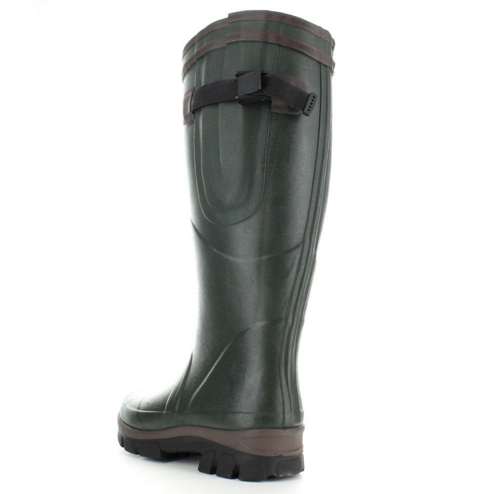 Highlander Highlander Mens Moorland Rubber Neoprene Waterproof Wellington Boots Olive Neoprene UK Size 9 EU 43, US 7