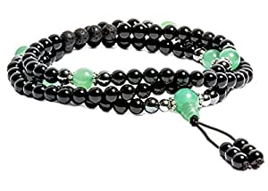 Buddhist Prayer Beads • Tibetan Mala Necklace • Wrap Bracelet • MALA BEADS for Meditation & Mantra