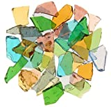 Mixed Colors Stained Glass Cobbles-2.5 ounces