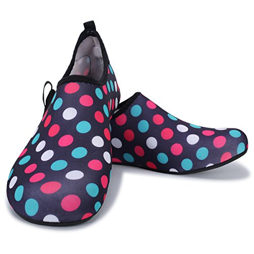 Aqua Shoes Lightweight FEETCITY Shoes Barefoot Water Dot Womens for Mens Swim Beach Colorful Yoga qIqwU0Wt