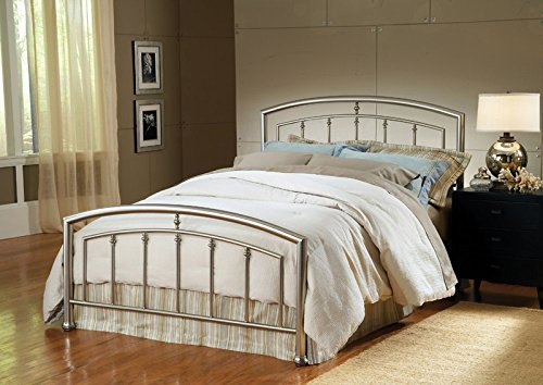 Nickel Metal Headboard (Hillsdale Furniture 1685BK Claudia Bed Set, King, Matte Nickel)