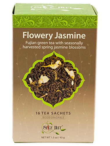 The Spice Hut Flowery Jasmine Green Tea, 16 Count