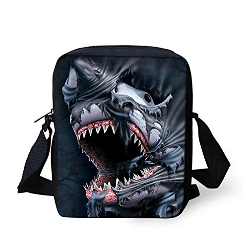 Bags IDEA Shoulder Shark Crossbody Handbag Small Animals Face HUGS dZwXqUU