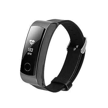 Saihui Banda de reloj pulsera de cuero accesorio banda para Huawei Honor Band 3 (A): Amazon.es: Deportes y aire libre