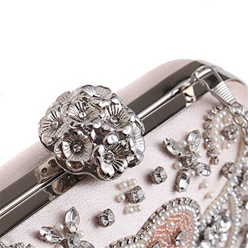 Clutches Evening Pink for Clubs Evening Jxth Crystal Handbag Party Evening Purse amp; Bag Clutch Handbags Clutch Bags Wedding Special Women's Occasion Purse agx0XFg