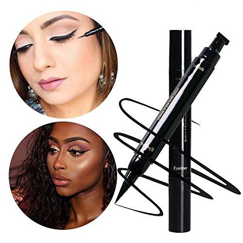 Easiest Winged Eyeliner Stamp Pen Hack Waterproof Smudgeproof Long Lasting Liquid Pen Eye Makeup Seal Tool for Wing or Cat Eye Black/ 1pc by GADGETS ENTREPOT