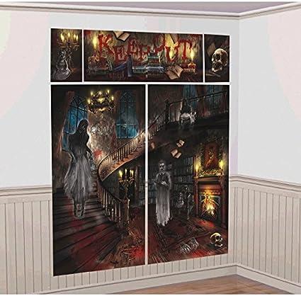 Halloween Haunted Casa mansión Gótica Miedo Foto Escena Setter decoración