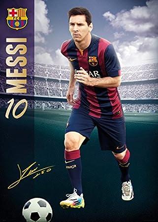 1art1 Set Fussball Fc Barcelona Messi 14 15 Xxl Poster