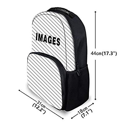 COLORFULSKY Water Resistant School Backpack, Daypack for Travel Outdoors Boys & Girls Sea Otter Cute Face Head Animals Trendy Little Arrow Backpack Stylish, Anti-theft Travel school Rucksack   Backpacks
