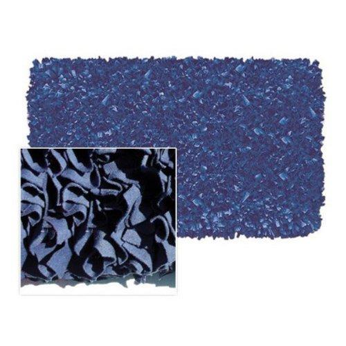 Maison Shaggy Raggy Dark Blue Jersey Cotton Shag Rug - 2'8 x 4'8 (Rug Cotton Area Jersey Shag)