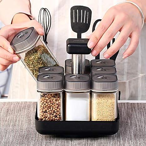 Verdelife Caja de Condimentos Giratoria de Cocina Estante de Especias de Gran Capacidad de 5 Capas Caja de Condimentos Giratoria de 360 ??/° Estante de Especias de Cocina Mezclador de Sal