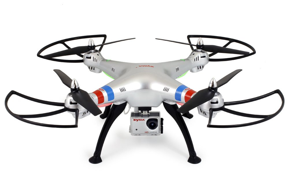 Syma X8G RC Drone with Camera and Video 2.4Ghz 4CH Headless Drone Quadcopter for Beginners (Silver) by GoolRC