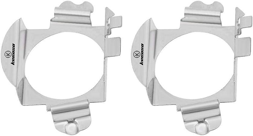 Hlyjoon Supporto per faro a LED 2 pezzi H7 Car Auto LED Faro Supporto per adattatore in metallo Lampada per faro Adattatore per lampadina Supporto di fissaggio per