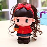 Lovely Red Kawaii Cute Cartoon A doll Piggy Bank Resin Personalized Baby Nursery Decor Home Furnishing decoration
