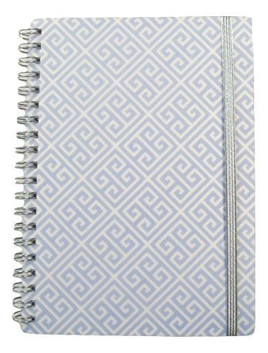 Style Ruled Pads (Carolina Pad Studio C College Ruled Poly Cover Spiral Notebook with Elastic Closure ~ Pattern Play (Blue Aztec; 5