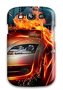 High-quality Durability Case For Galaxy S3(car In Fire City Hq)