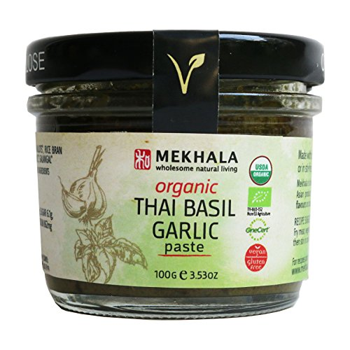 Mekhala Organic Gluten Free Thai Basil Garlic Paste 3.53oz (Spice Paste)