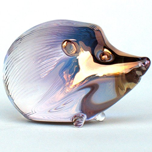 Hedgehog Figurine of Hand Blown Glass