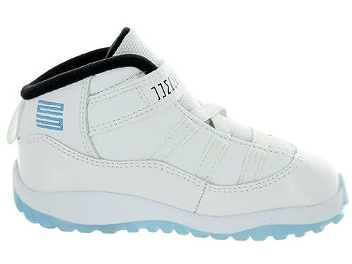 ac5eb10563a Amazon.com: Jordan Nike Toddlers 11 Retro Bt White/Legend Blue/Black  Basketball Shoe 10 Infants US: Shoes