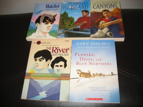 6 Book Set by Gary Paulsen~Hatchet/The River/Canyons/The Island/Escape from Fire Mountain/Puppies, Dogs, and Blue ()