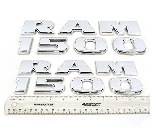 Exotic Store DR-15S Brand New Pair of 2 Fit for Ram 1500 Chrome Trunk Fender Emblem Badges Lettering Nameplate Emblem