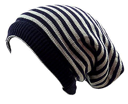 Muchos Invierno gorros de Reversible de gorros de bufanda de de Invierno de bufandas de redondo bufanda de Long de gorro de muetzen Invierno Edition Skul lred gris