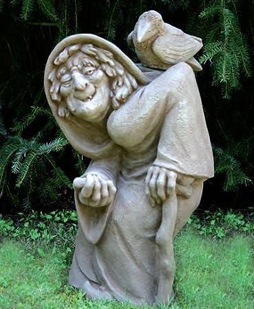 Bruja Estatua para jardín fabricado en hormigón mecanismo piedra figuras de jardín-Estatua Figura decorativa escultura de jardín: Amazon.es: Hogar