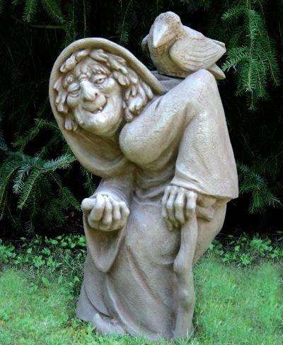Bruja Estatua Para Jardin Fabricado En Hormigon Mecanismo Piedra - Estatuas-de-jardin