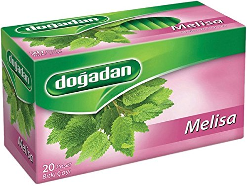Melissa Herbal Tea - Dogadan Melissa Herbal Tea, 3 Pack (Each 20 Tea Bags x 3)