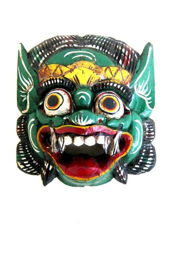 (OMA Barong Mask Protection Mask Statue Good Luck Fortune African Bali Mask Federal Trademark Logo ON MASK)
