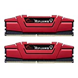 G.SKILL F4-2400C15D-16GVR Ripjaws V Series 16GB (2 x 8GB) 288-PinDDR4-2400MHz , Crimson Red