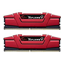 G.SKILL F4-2133C15D-16GVR Ripjaws V Series 16GB (2 x 8GB) 288-PinDDR4-2133MHz, Crimson Red