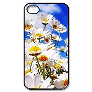 HOT sale, Beautiful Daisy Flower picture for black plastic iphone 4,4s case by icecream design
