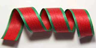 "product image for 100% Biodegradable Natural Ribbon | Prints & Stripes | Ribbon for Crafts | Cotton Curling Ribbon | Holiday Ribbon | Wrapping Ribbon | Eco-Friendly Ribbon (Red w/Holiday, 1/2"" x 100 Yards)"