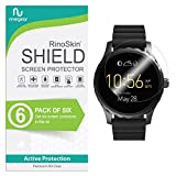 RinoGear Fossil Q Marshal Screen Protector [6-Pack] Full Coverage Flexible Screen Protector for Fossil Q Marshal HD Crystal Clear Anti-Bubble Unlimited Replacement Film