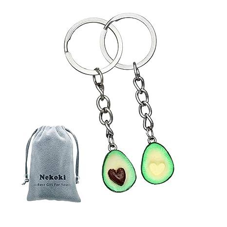 Avocado - Llavero para pareja, 2 piezas, adorable, para ...