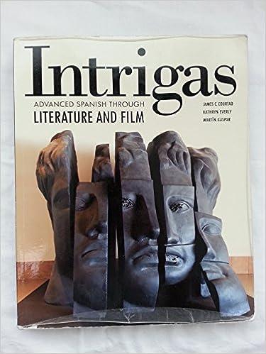 Intrigas advanced spanish through literature and film vista higher intrigas advanced spanish through literature and film vista higher learning 9781617671036 amazon books fandeluxe Images