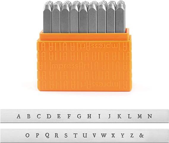 Metal Stamp Set VARSITY Metal Stamps Kit Hand Stamping Uppercase Alphabet 6mm Team Sports Lettering Outline 14 ImpressArt Stamps
