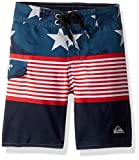 Quiksilver Little Boys' Division Independent Youth Boardshort Swim Trunk, Navy Blazer, 6