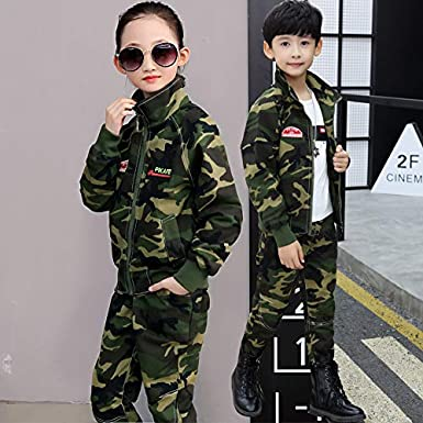 Kids Suits Camouflage Primary Secondary School Two-Piece Student Military Sets