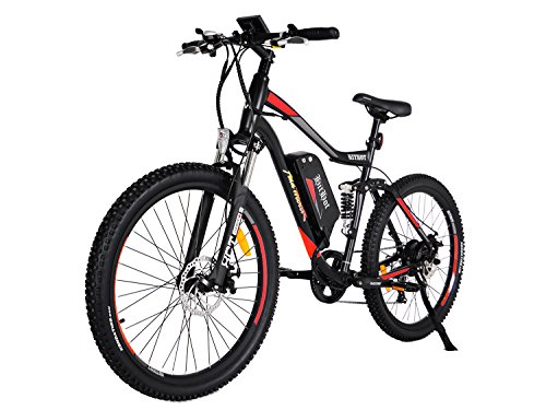 Addmotor HITHOT Electric Bicycle 48V 500W Motor 10.4 AH Samsung Lithium Battery Electric Bike With Fork Suspension/Spring Shock Absorber Hithot H1 Mountain E-bikes 2017 For Adults(Orange)