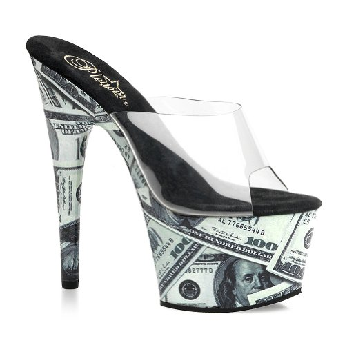 7 Inch Sexy Stripper Shoes 100 Bill Money Platform Shoes