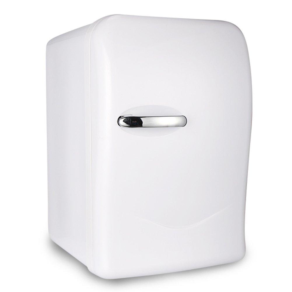 LIQICAI 15L Mini Kühlschrank 1 Tür Heizen Und Kühlen Zwei Anwendungen 12V 230V (Farbe : Weiß)